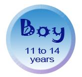 Boy 11 to 14